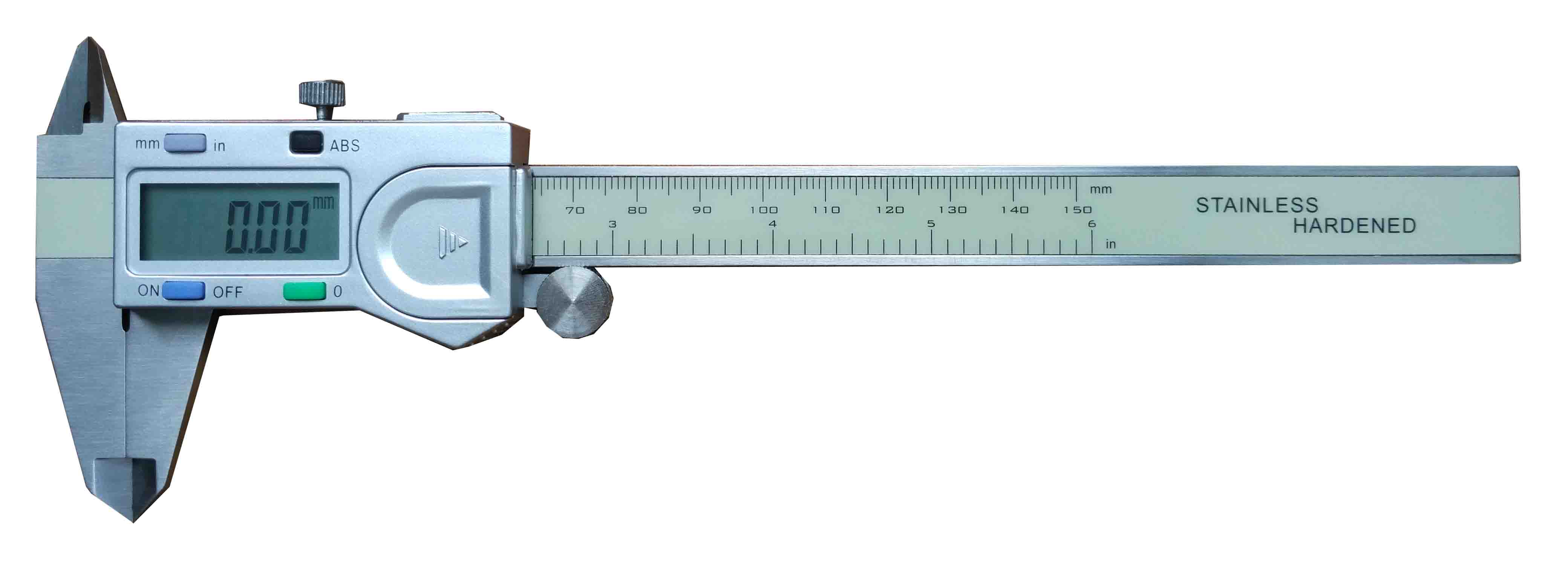 digital vernier caliper with four buttons