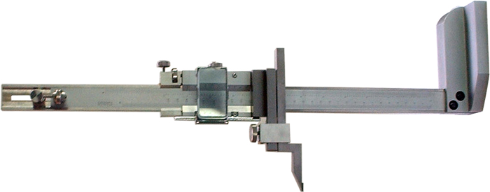 Vernier height caliper with magnify glass